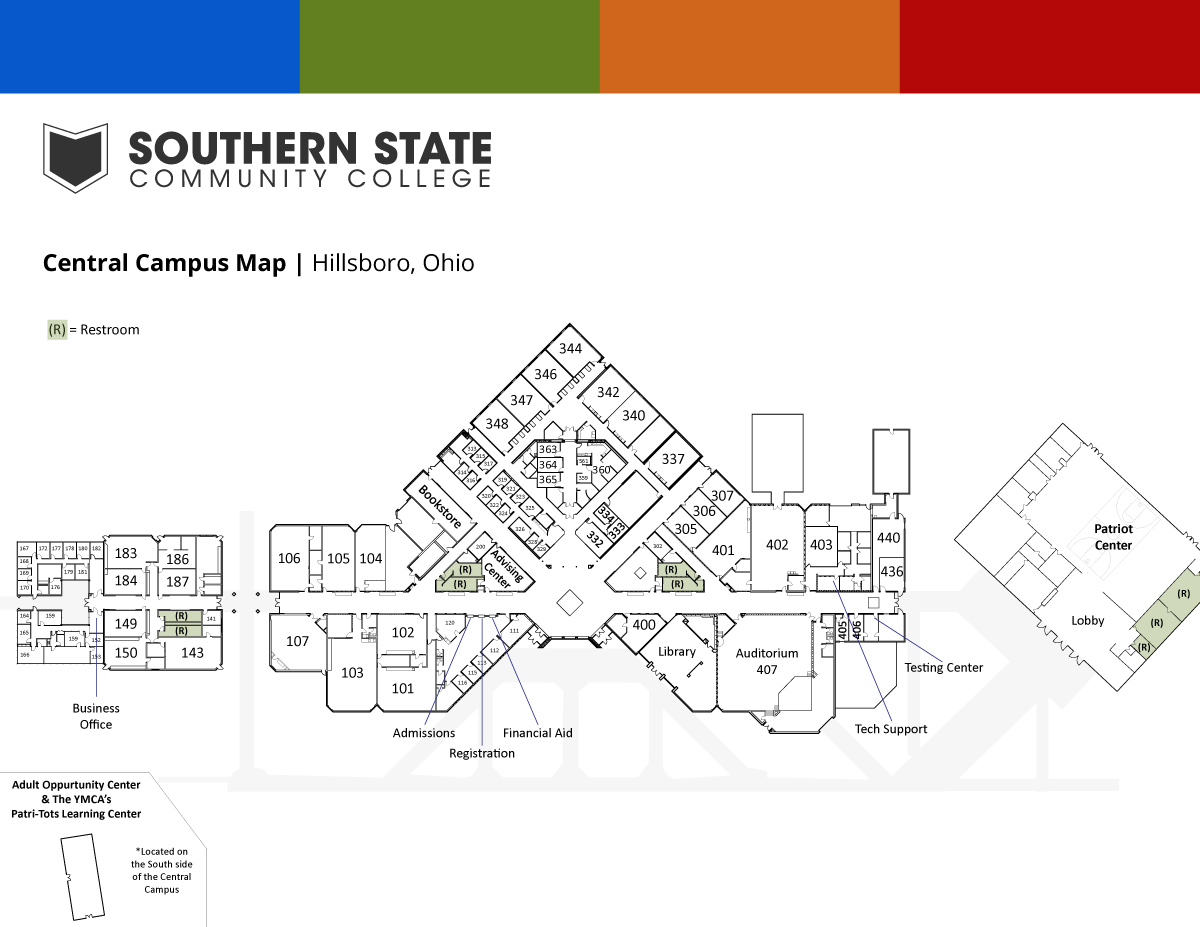 Southern State Central Campus Map