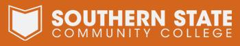 Southern State's Logo Reversed on Orange