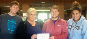 Image of Patriot Campus Ministries donating to support SSCC's instructor Gregory Lawson