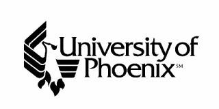 Logo for University of Phoenix.