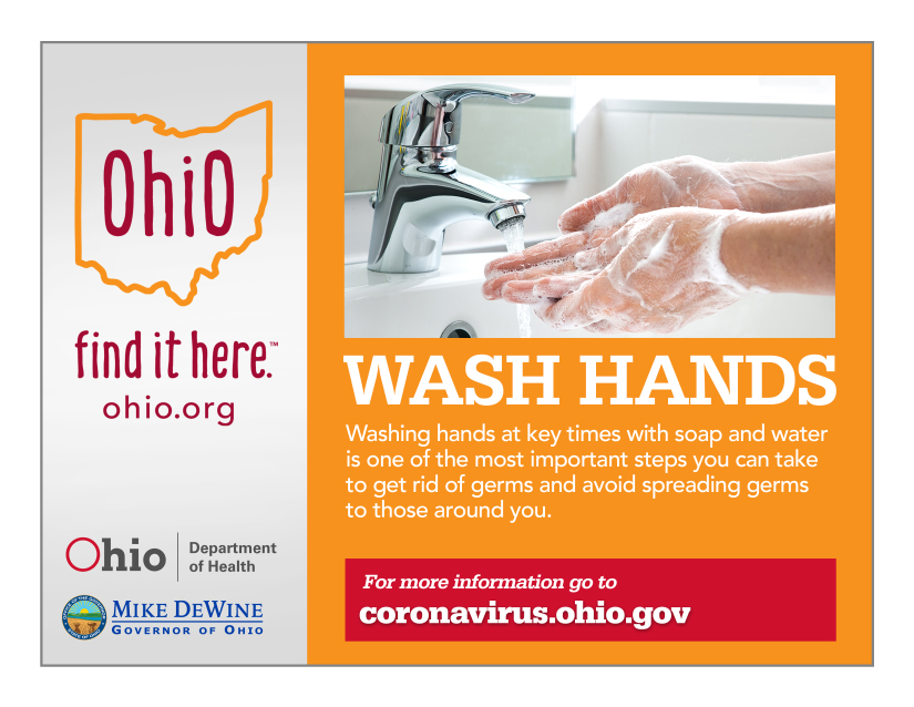 Wash hands at key times with soap and water is one of the most important steps you can take to get rid of germs and avoid spreading germs to those around you.