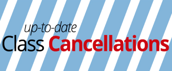 Up-To-Date Class Cancellations
