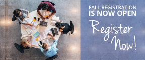 Fall Registration is now open, Register Now!