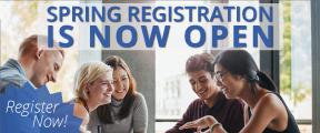 Spring Registration begins November 5th. Start planning now!