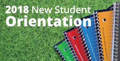 Banner for the Summer 2018 New Student Orientation