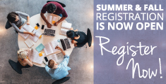Summer & Fall Registration is now open, Register Now!