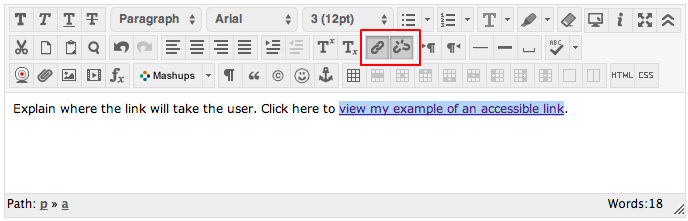 Example of Links in Canvas