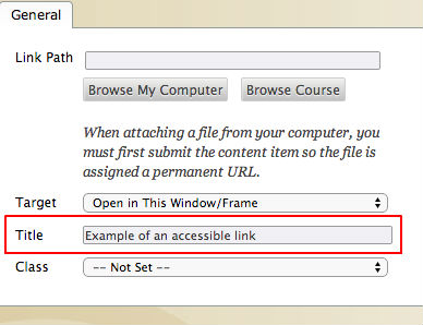 Example of Links Title attribute in Canvas