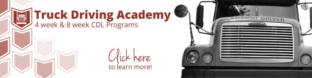 Truck Driving Academy Banner