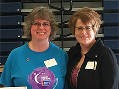 Southern State Cancer Crusaders Co-Captains, Angie Moots and Michelle Meddock