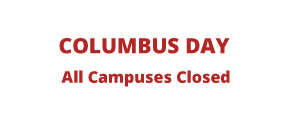 Columbus Day, All Campuses Closed