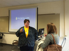 Phi Theta Kappa members at the Central Campus Orientation
