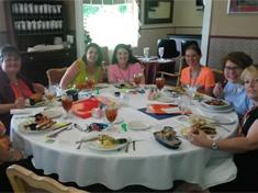 Members at Dinner at the Members Retreat