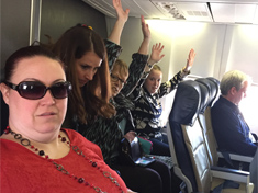 Members on the plane