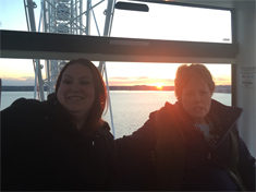 Brady Yates and Connie Huber on The Capital Wheel