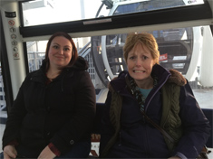 Brandy Yates and Connie Huber on The Capital Wheel