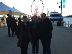 Connie Huber, Brandy Yates, and Cindy Gullet at The Capital Wheel